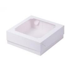 Коробка с окном 20*20*7 см, белая
