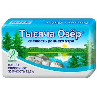 Масло сливочное Тысяча Озер 82,5%, 400 гр