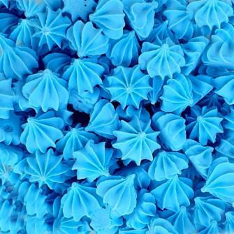 Мини-безе сахарные Голубые, 250 гр