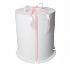 Коробка для торта круглая белая, D350 h497 мм