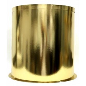 Коробка для торта круглая золотая, D300 h426 мм