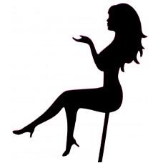 """Топпер """"Девушка сидит"""" черный, 15 см"""