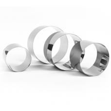 Набор колец нержавеющих D100, 90, 75, 60 мм, h50 мм