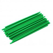 Палочки для кейкпопсов зеленые 14 см, 100 шт