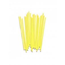 Палочки для кейкпопсов желтые 14 см, 100 шт