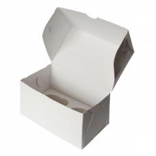 Коробка на 2 капкейка из белого картона