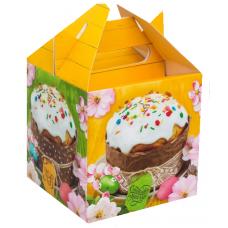 """Коробка для кулича """"Счастливой Пасхи"""", 14х14х14 см"""