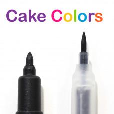 Фломастер двусторонний черный Cake Colors