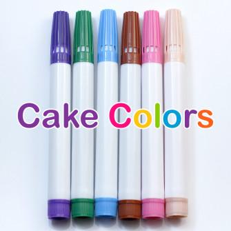 Набор пищевых фломастеров Нежный Cake Colors, 6 цветов