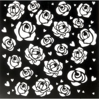 "Трафарет ""Розы"", 15х15 см"