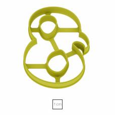 Форма для пряников узорная Цифра 8, 10 см