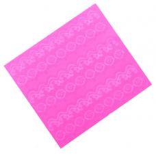 Коврик силиконовый д/айсинга Цветочный кант, 34х30 см