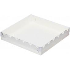Коробка с прозрачной крышкой 15,5х15,5х3,5 см