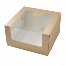 Коробка с окном 18*18*10 см, крафт