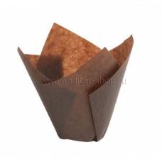 Форма бумажная Тюльпан 50*80 мм (корич), 200 шт