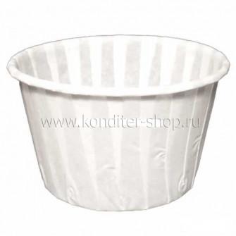 Форма бумаж. Маффин ламинир., белые 50*40 мм, 100 шт