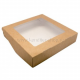 Коробка с окном 20*20*4 см, крафт