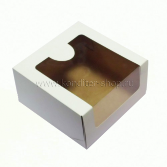 Коробка с окном 22,5*22,5*11 см, белая