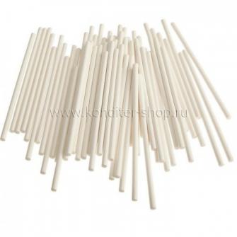 Палочки для кейк-попсов белые 14 см, 100 шт