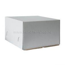 Коробка белая 30*30*19 см, Микрогофра
