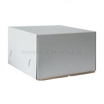 Коробка белая 28*28*14 см, Хром-Эрзац