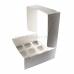 Коробка на 9 капкейков из белого картона