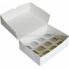 Коробка на 12 капкейков, немелованная