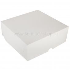 Коробка 25,5*25,5*12 см, белая