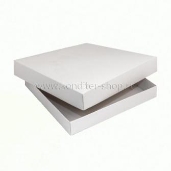 Коробка 28,5*28,5*6 см, белая