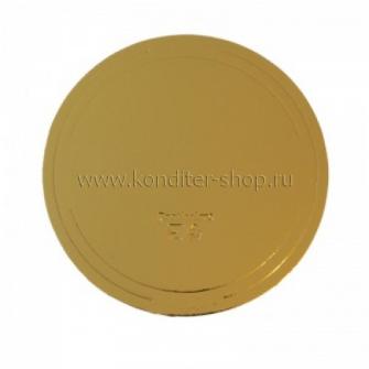 Подложка усиленная (3,2 мм) золото/жемчуг D 220 мм