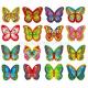 Вафельные бабочки с рисунком, 10 шт