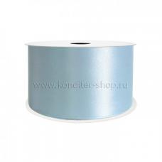 Атласная лента голубая 10 мм