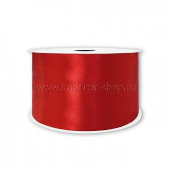 Атласная лента красная 1,2 мм, 32 м