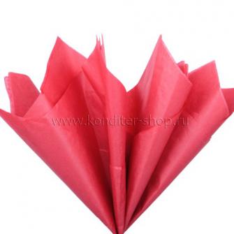 Бумага тишью красная, 50х66 см, 10 л