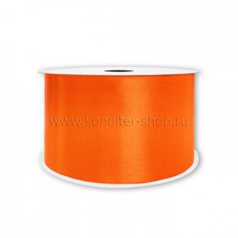 Атласная лента мандарин 7 мм