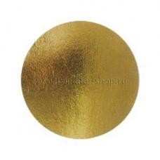 Подложка усиленная (1,5 мм) золото/жемчуг D 340 мм