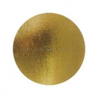 Подложка усиленная (1,5 мм) золото/жемчуг D 300 мм