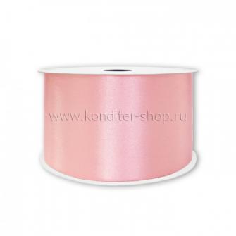 Атласная лента розовая 2,5 см