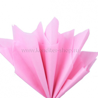 Бумага тишью розовая 50х66 см, 10 л