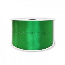 Атласная лента зеленая 10 мм