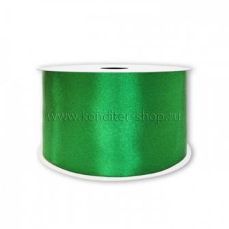 Атласная лента зеленая 1,2 см