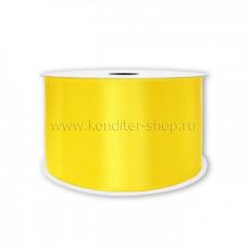 Атласная лента желтая 20 мм