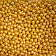 Шарики сахарные золото 7 мм, 50 гр