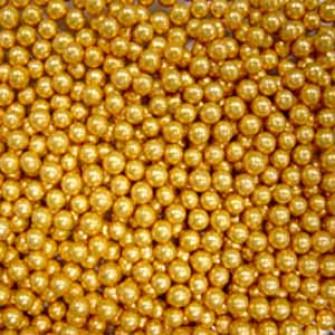 Шарики сахарные золото 2 мм, 50 гр