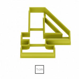 Форма для пряников Цифра 4, 10 см