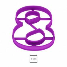 Форма для пряников Цифра 8, 8.5 см