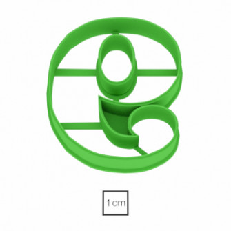 Форма для пряников Цифра 9, 10 см