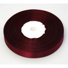Атласная лента бордовая 10 мм