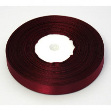 Атласная лента бордовая 1,2 см
