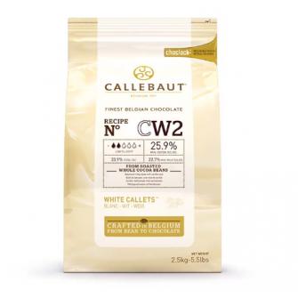 Шоколад Callebaut в таблетках, белый 25,9%, 2,5 кг